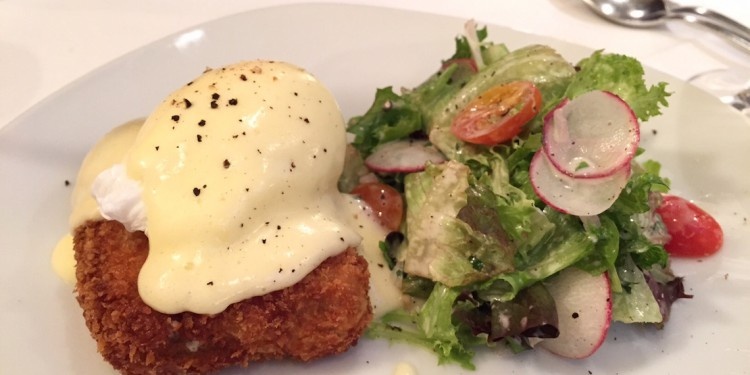 Bistro Pastis: Crispy Pork Rillette Benny (1/2 portion)