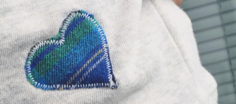 preloved heart stitching