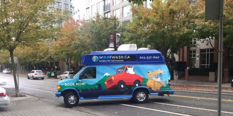 woof wash mobile pet grooming
