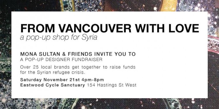 vancouver pop up shop for syria