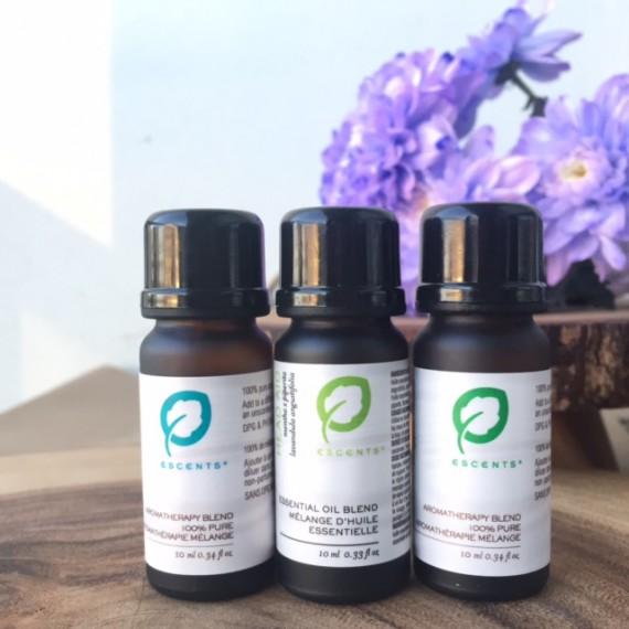 Escents Natural Wellness Blend Trio