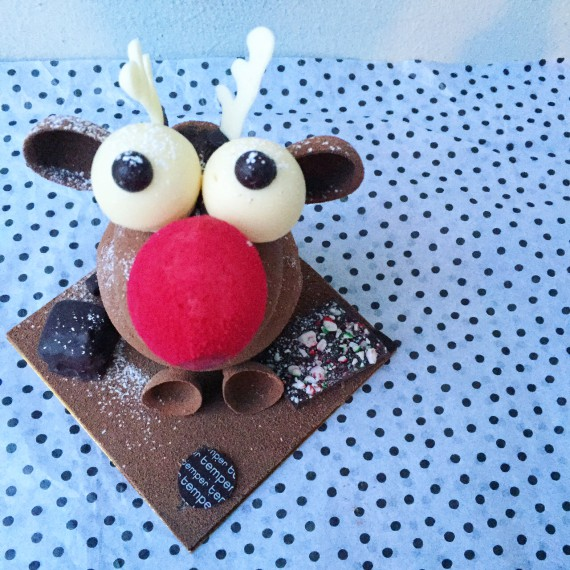 """""""Canadian Reindeer"""" Chocolate Statue from Temper Pastry"""
