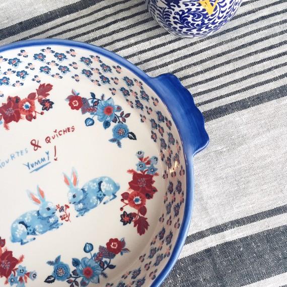 Antropologie Casserole Dish & Monogram Mug
