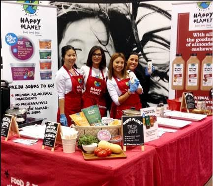 Vancouver-based Happy Planet will be sampling their newest varieties of soup: West African Squash & Cashew, Portuguese Kale & White Bean and French Lentil.