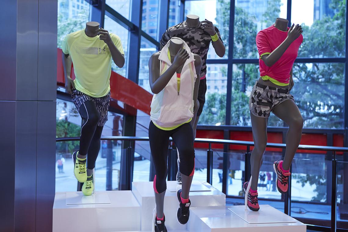 Sport Chek Robson St_mannequins