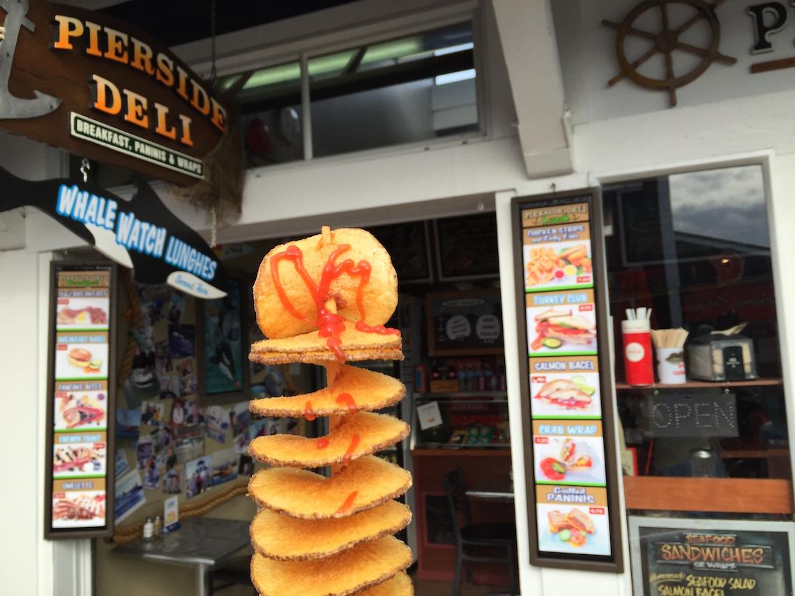 """Propeller Fries"" - potato fried on a stick"