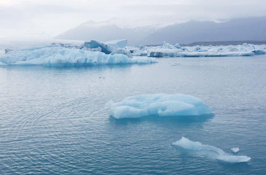 Icebergs at jokulsarlon glacier lagoon Iceland 2