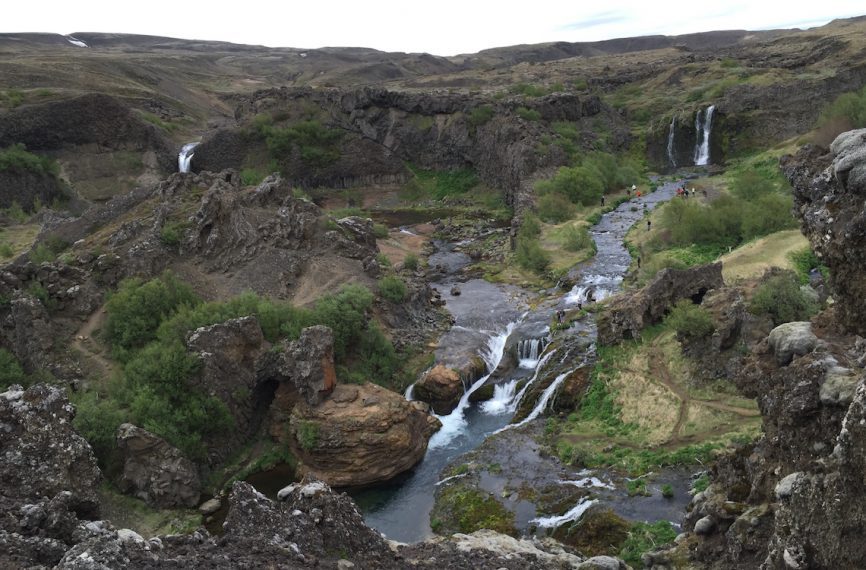 Iceland Gjain Valley Hike and Waterfalls