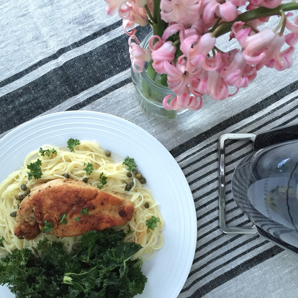 Fresh Prep: Lemon Chicken Piccatta with Marinated Kale Salad