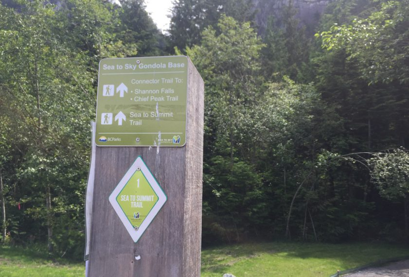 Markers numbers from 1 to 400 along the Sea to Summit trail.