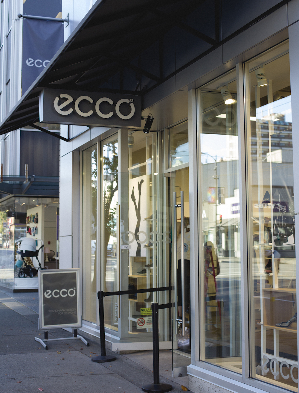 Ecco Vancouver South Granville Storefront
