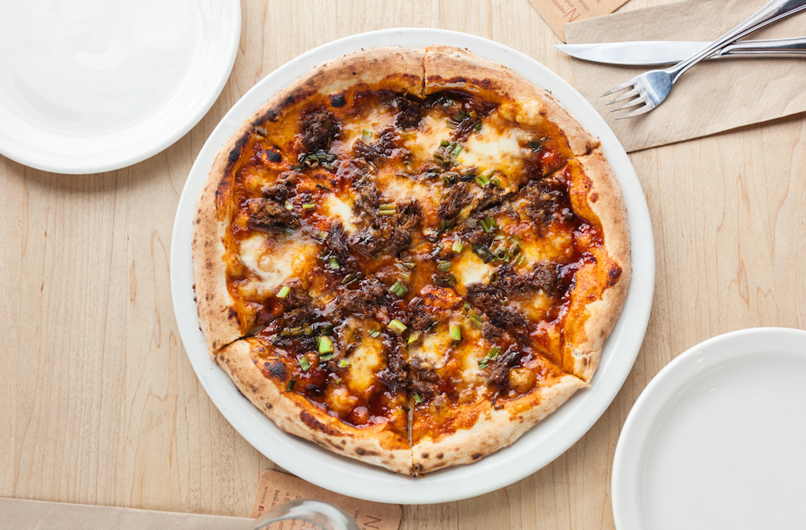 famoso korean bbq pizza
