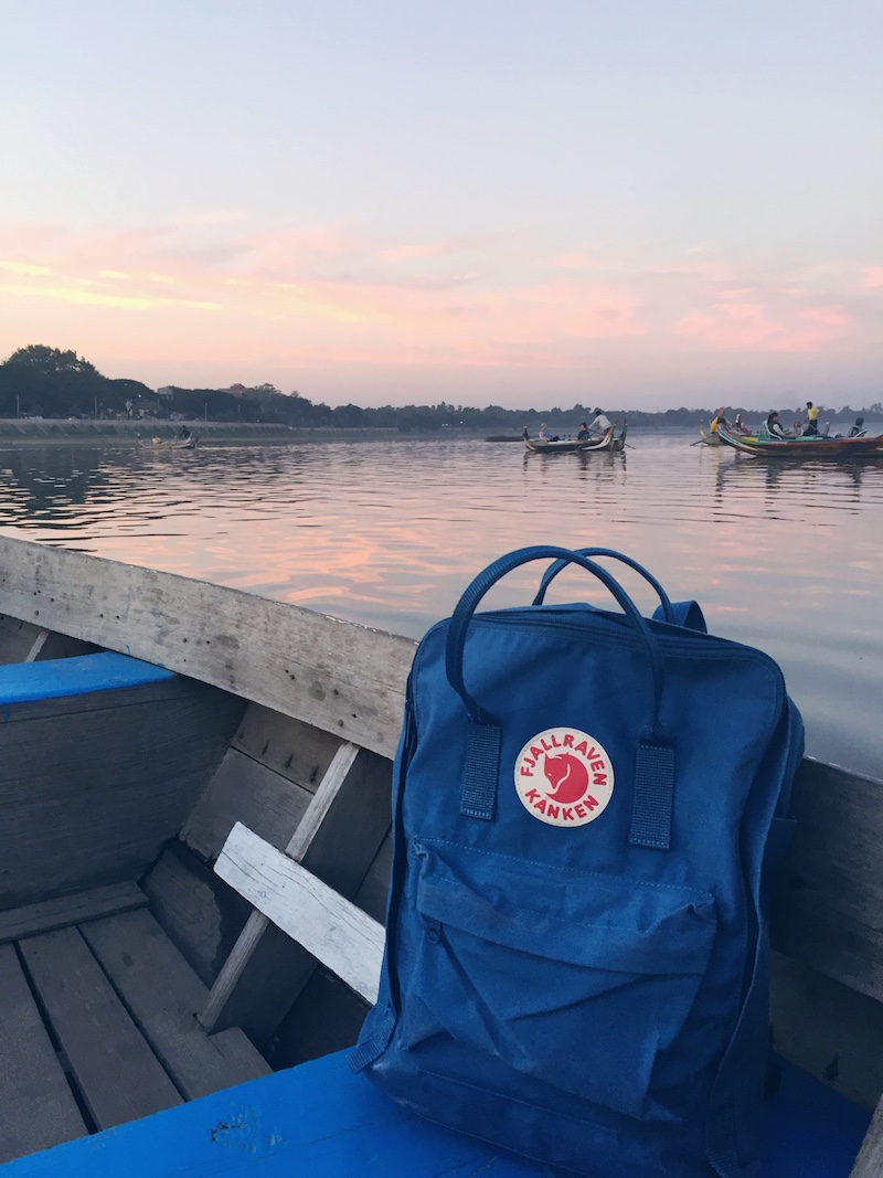 Fjallraven Kanken Backpack in Lake Blue