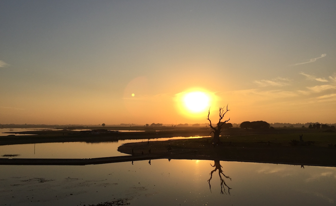 Sunset view from Ubein Bridge