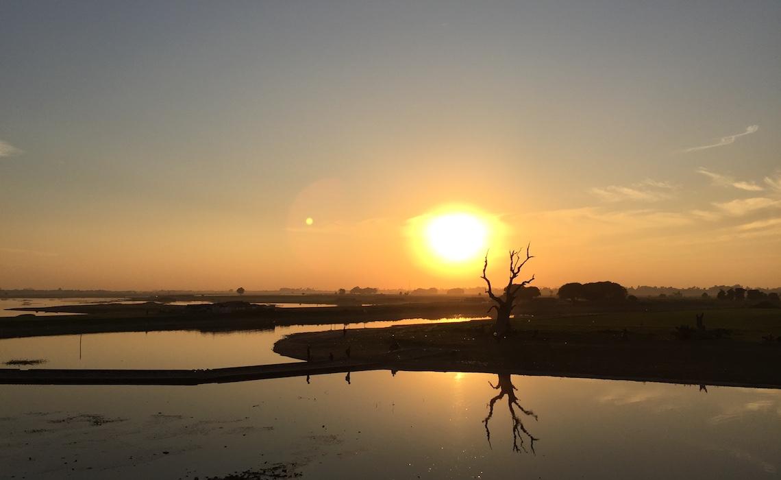 Sunset view from Ubein Bridge