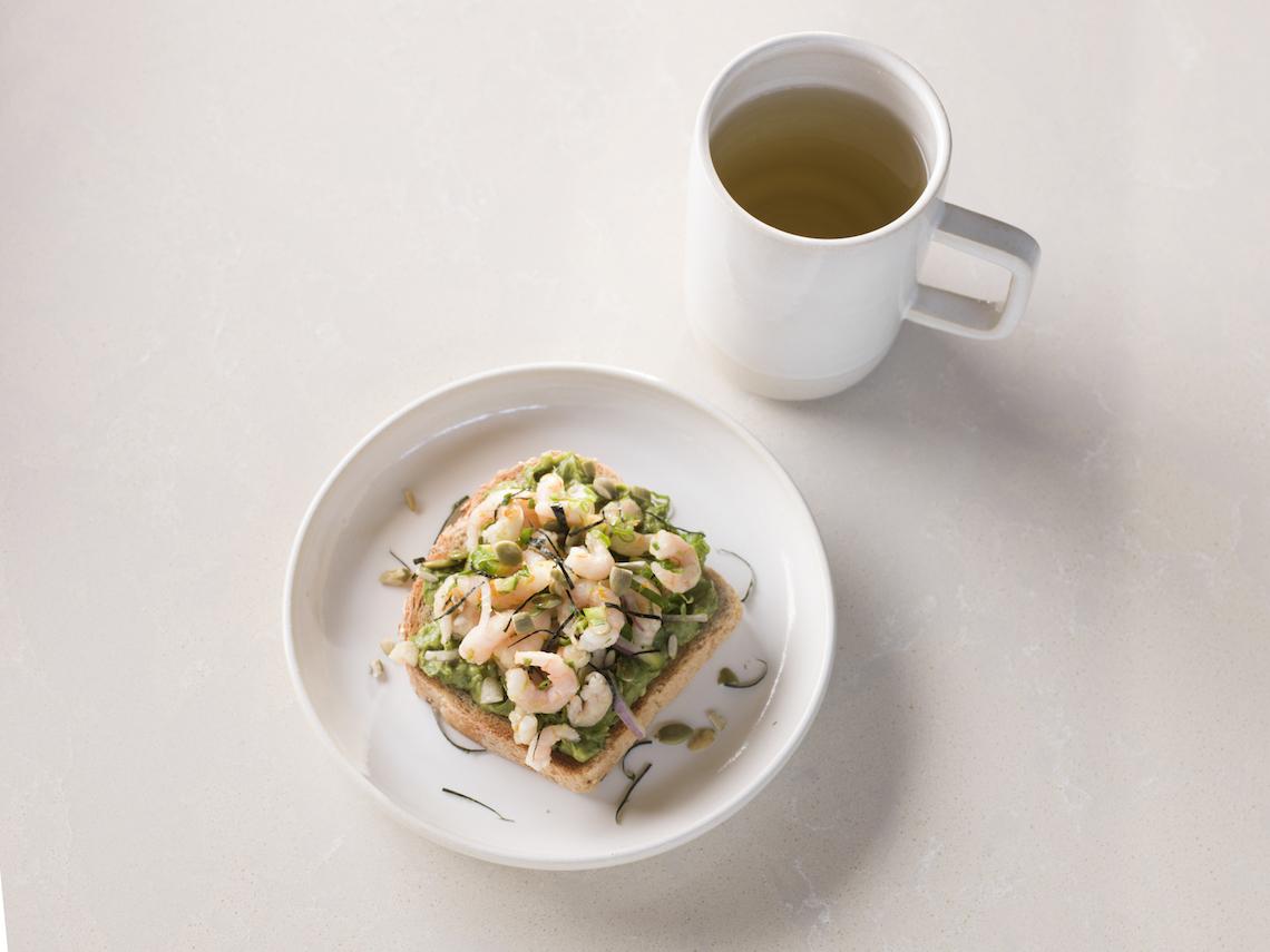 Cha Le Tea - Shrimp Avocado Toast