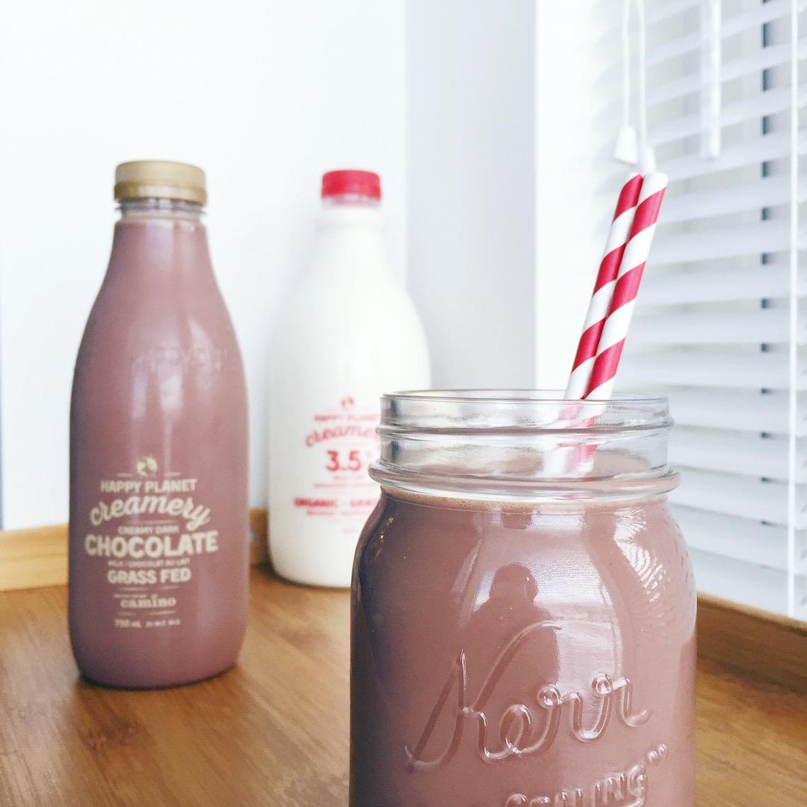 happy planet chocolate milk