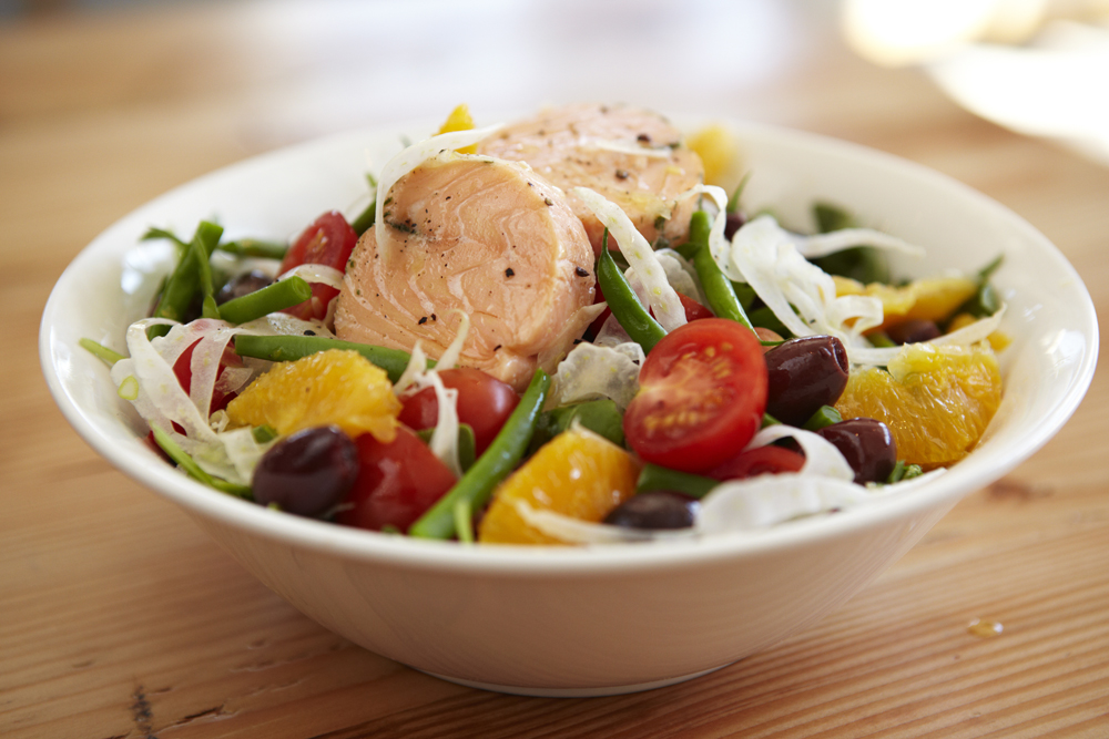 Railtown Cafe Salmon Salad