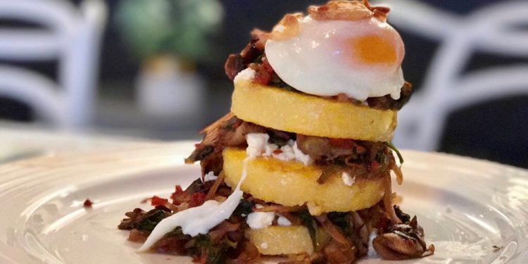 vegetarian polenta stack recipe