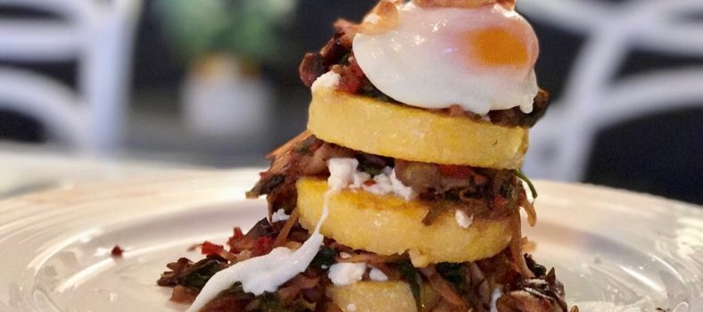 vegetarian polenta stack recipe