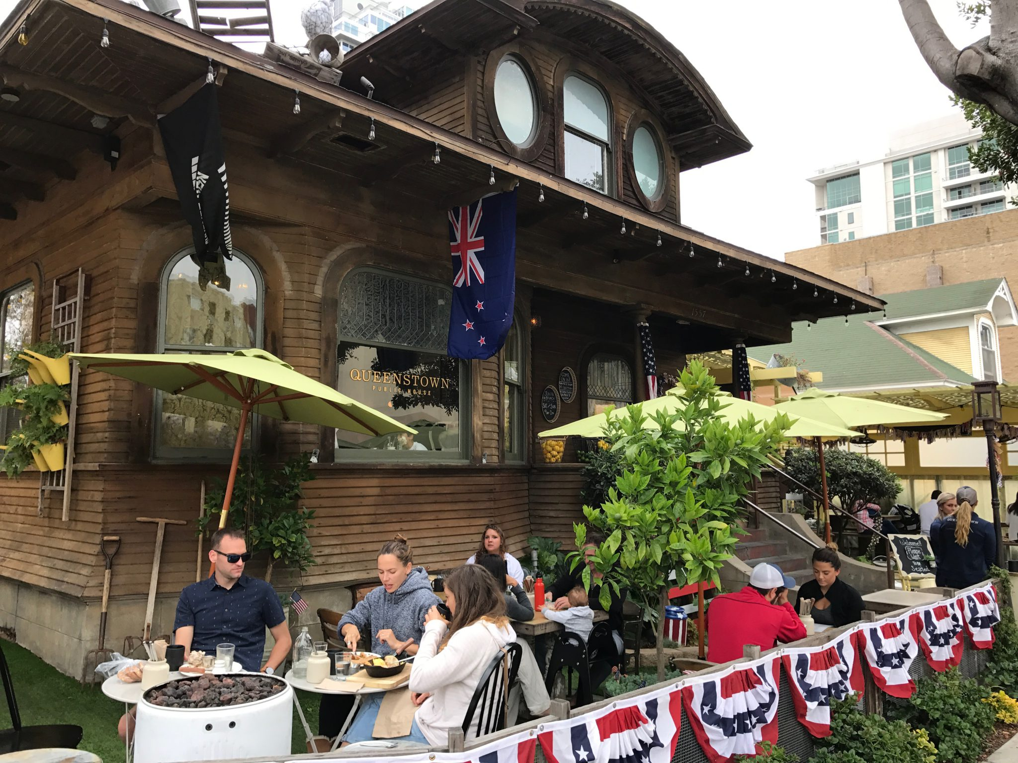 queenstown public house patio in san diego little italy