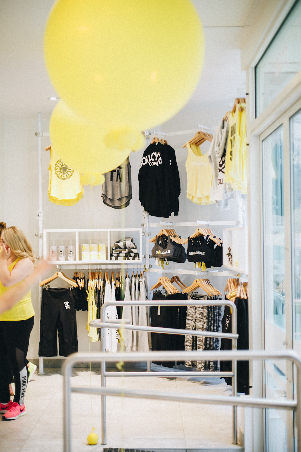 Shop for SoulCycle branded apparel in their lifestyle boutique.