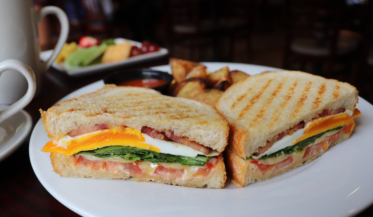 The Breakfast BLT Sandwich at Brambles Bistro