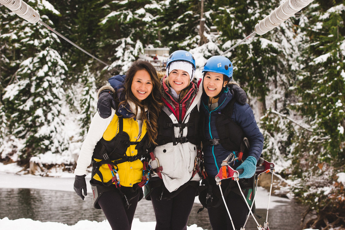 Winter Zipline on Grouse Mountain in Vancouver British Columbia