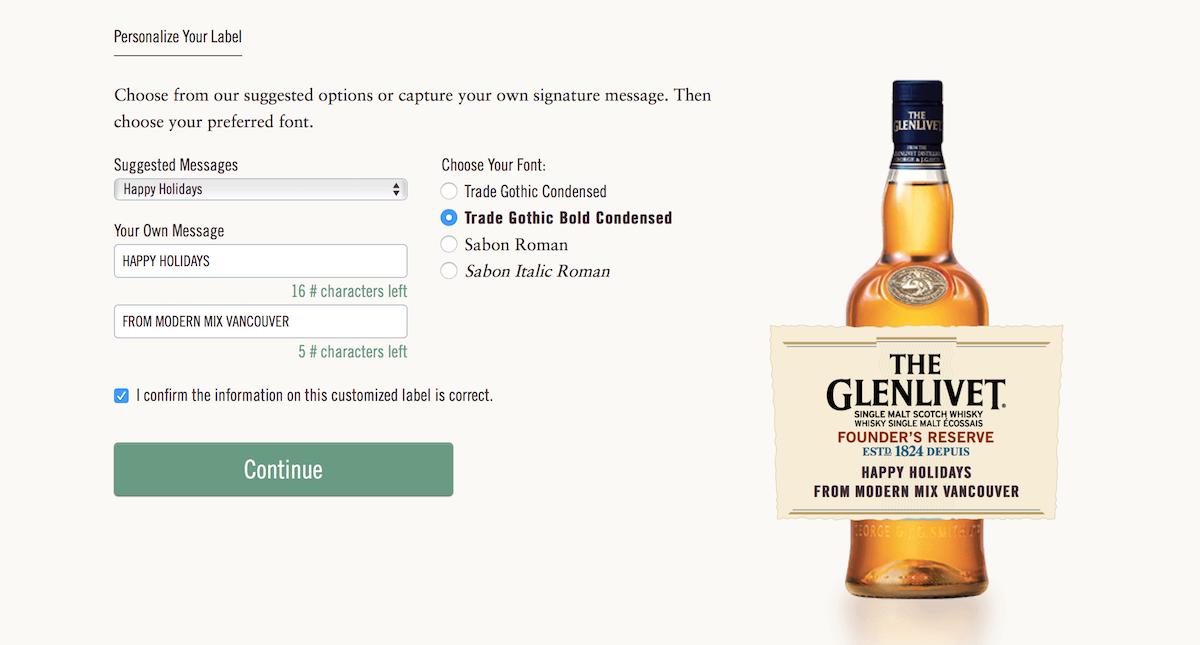 Glenlivet Custom Label