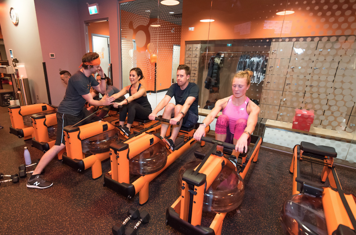 Orangetheory fitness rowing machine