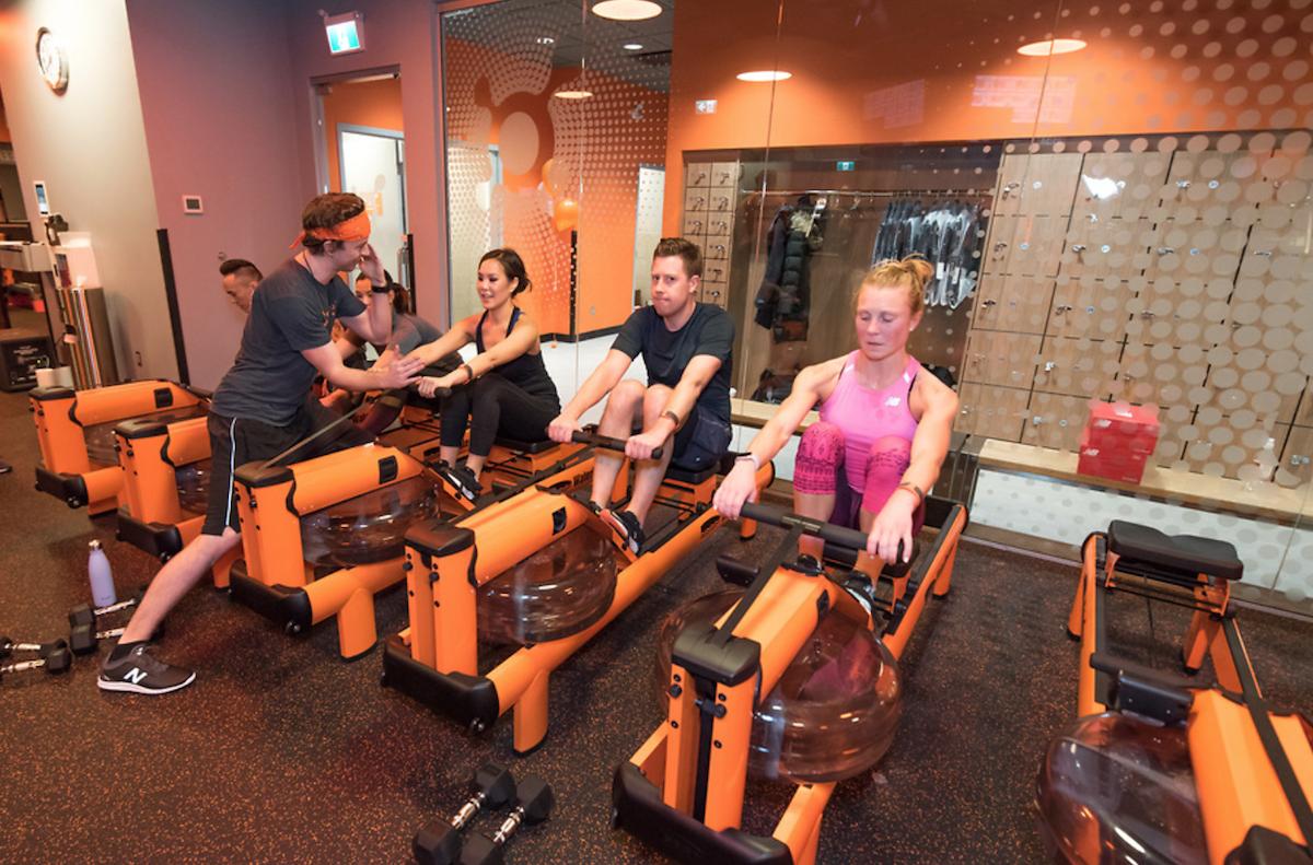 Orangetheory fitness rowing machine