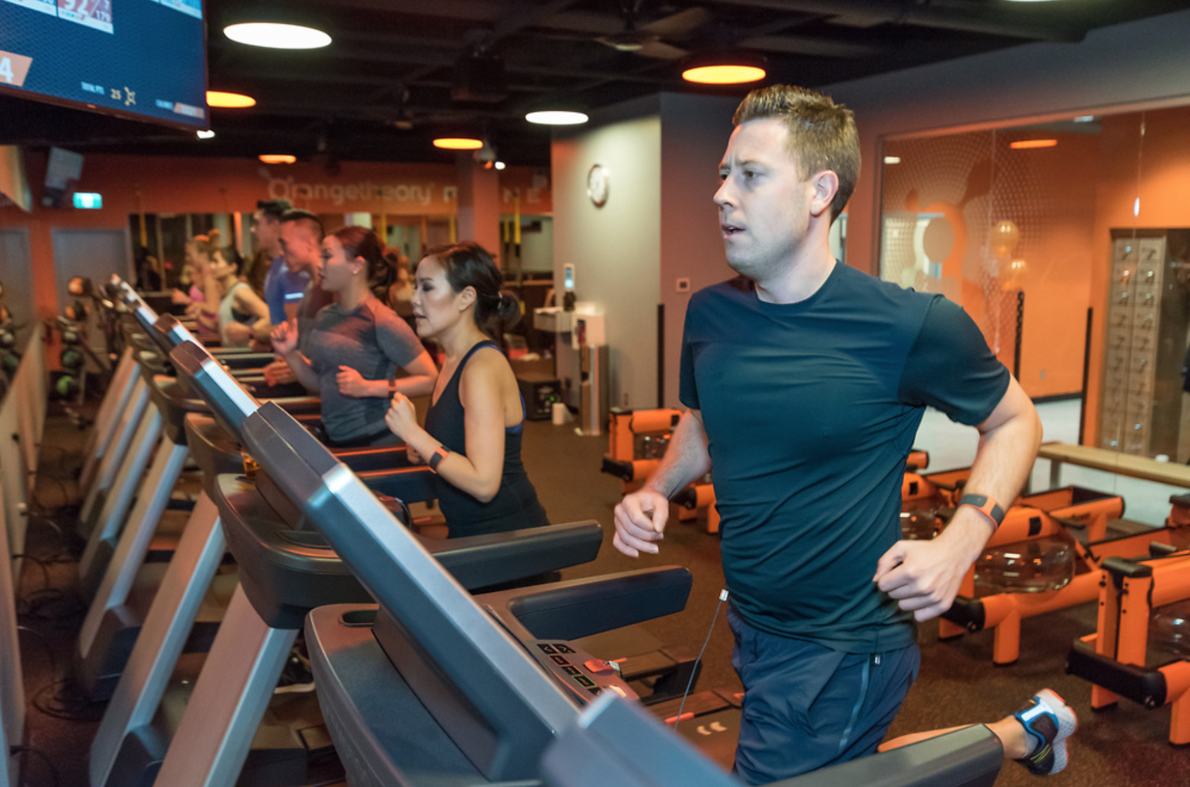 Treadmills at Orangetheory on Davie Street