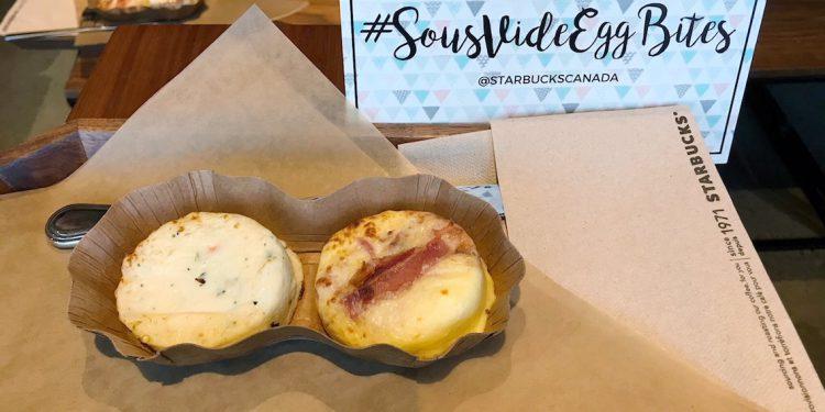 Starbucks Sousvide Egg Bites Canada