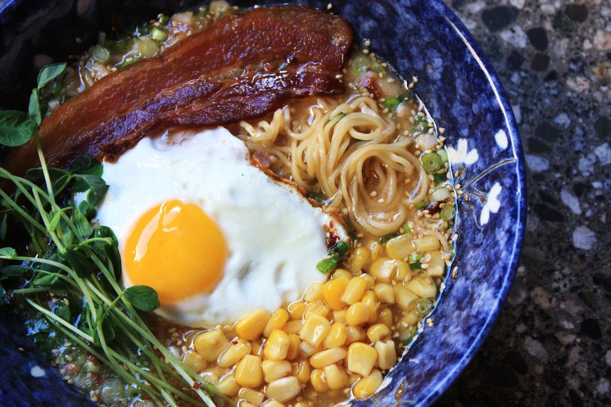 Bacon 'n Egg Ramen at Gyoza Bar, Vancouver