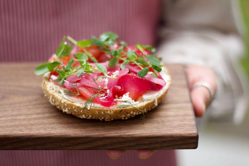 Bel Cafe   House-Cured Salmon Bagel   Kitsilano