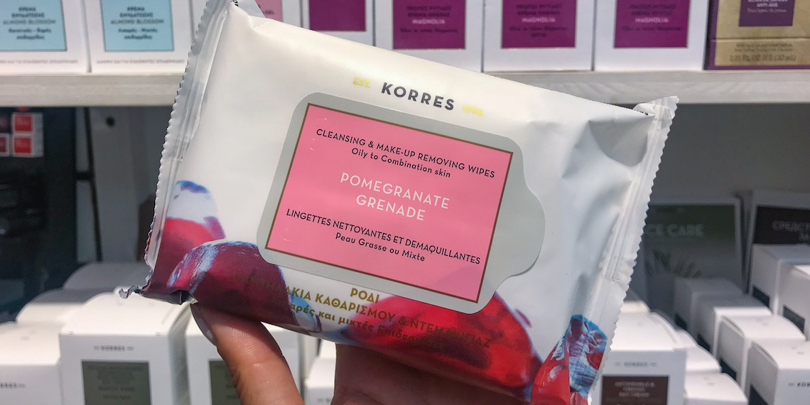 KORRES Pomegranate Cleansing & Makep Removing Wipes