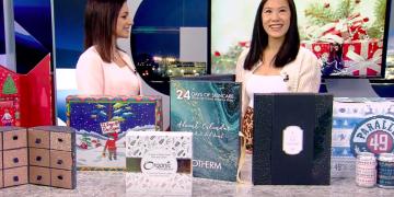 holiday advent calendar segment on global BC TV news