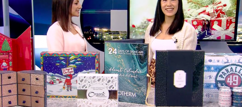 holiday advent calendar segment on global BC TV news