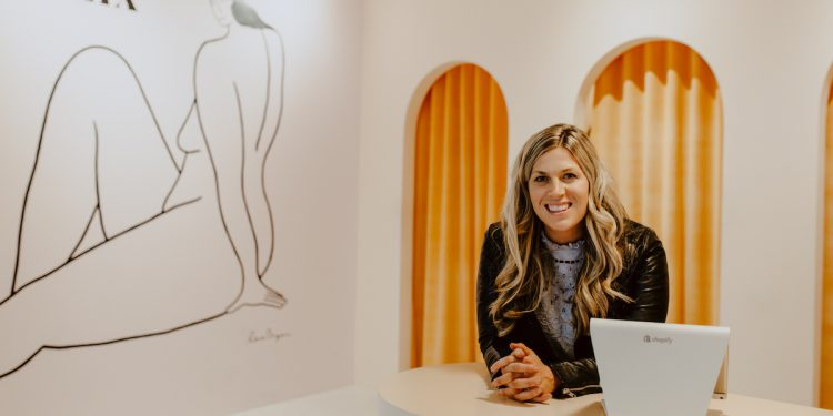 Joanna Griffiths, Founder & CEO of Knix at her retail storefront in Vancouver, BC