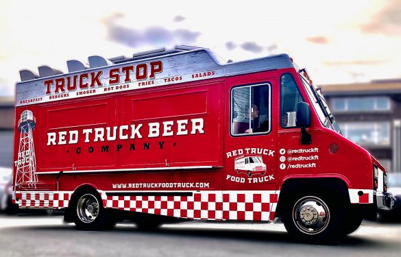 red truck beer food truck