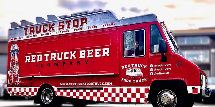 red truck beer food truck