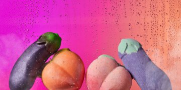 Lush eggplant and peach soap for valentines day