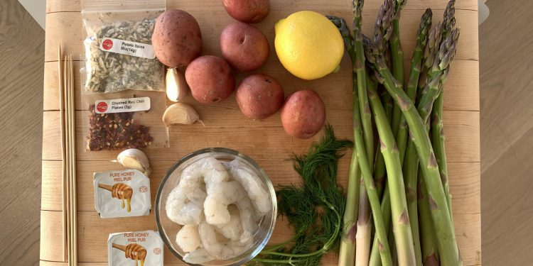 Chefs Plate Ingredients in Meal Kit