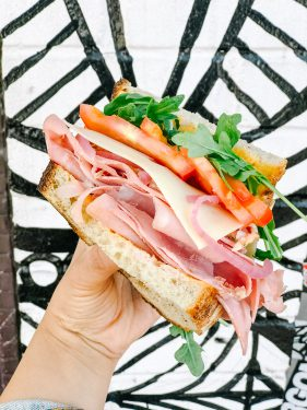 lil bird sandwich co meat your match sandwich cross section
