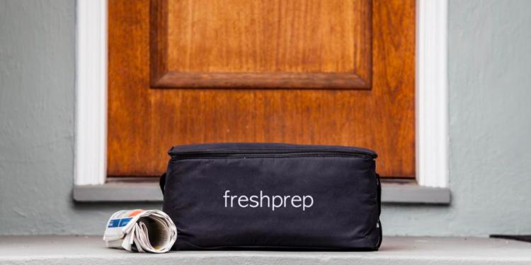 Fresh Prep Bag in front of Door