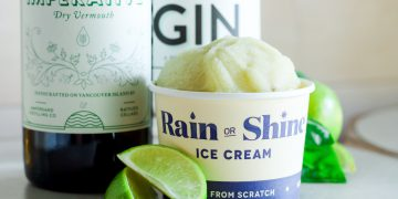 rain or shine ice cream with vermouth