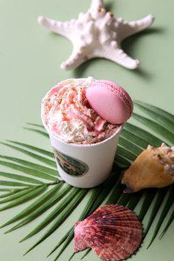 Mauna La'i Dairy-Free Hot Chocolate from Honolulu Coffee with Guava Macaron