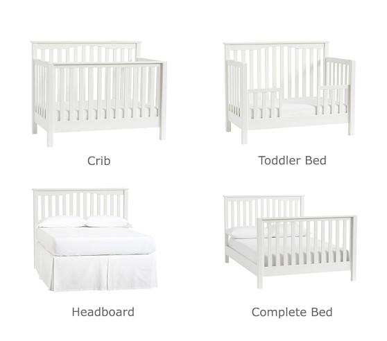 4 in 1 Convertible Crib Diagram