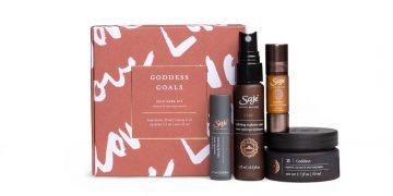 saje goddess goals kit on white background