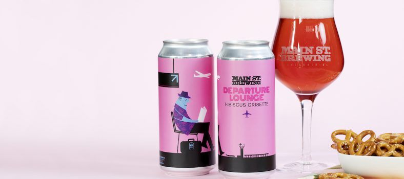 Main Street Brewing Departure Lounge Hibiscus Beer